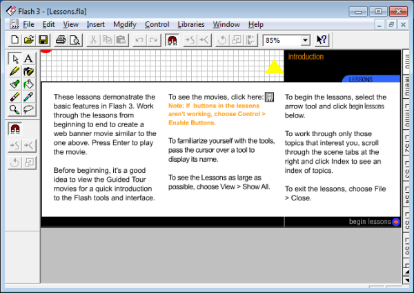 Flash 3 Interface Screenshot