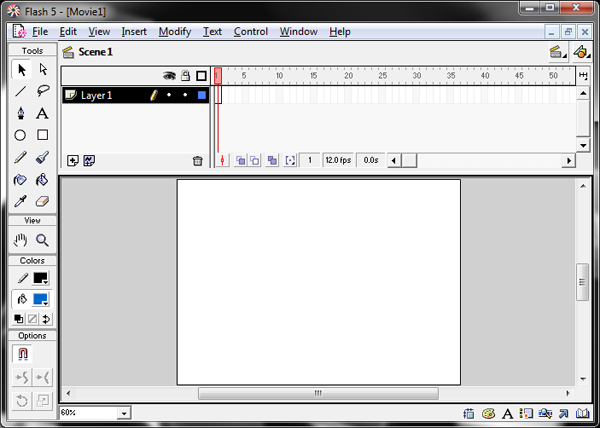 Flash 5 Interface Screenshot
