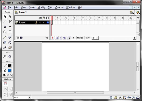 Интерфейс macromedia flash 5 - часть 2