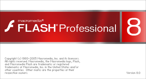 Flash 8 Splash Intro Screen
