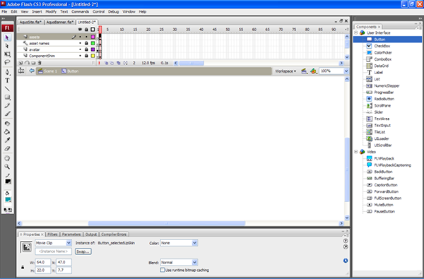 Flash CS3 Interface Screenshot