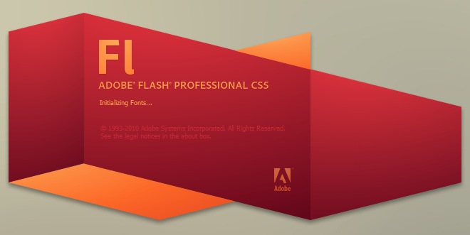 Flash CS5 Splash Intro Screen