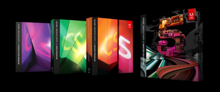 Adobe creative suite 5 boxes