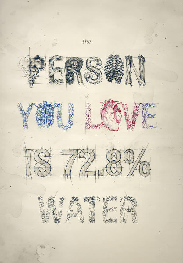 The person you love is 72.8% water