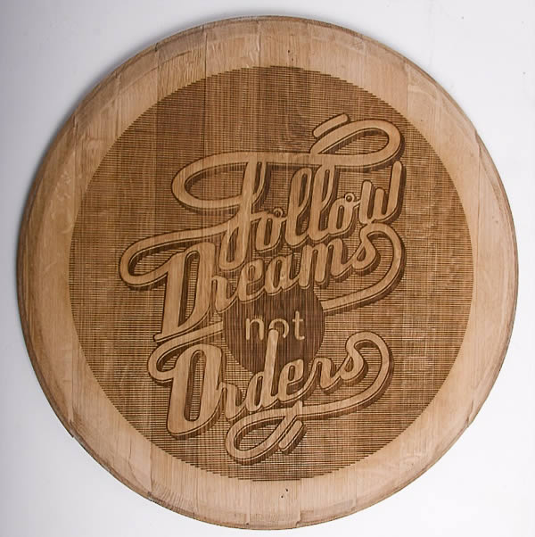 Wood Typography Engraving