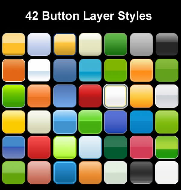 42 Photoshop Layer Styles for Button Design