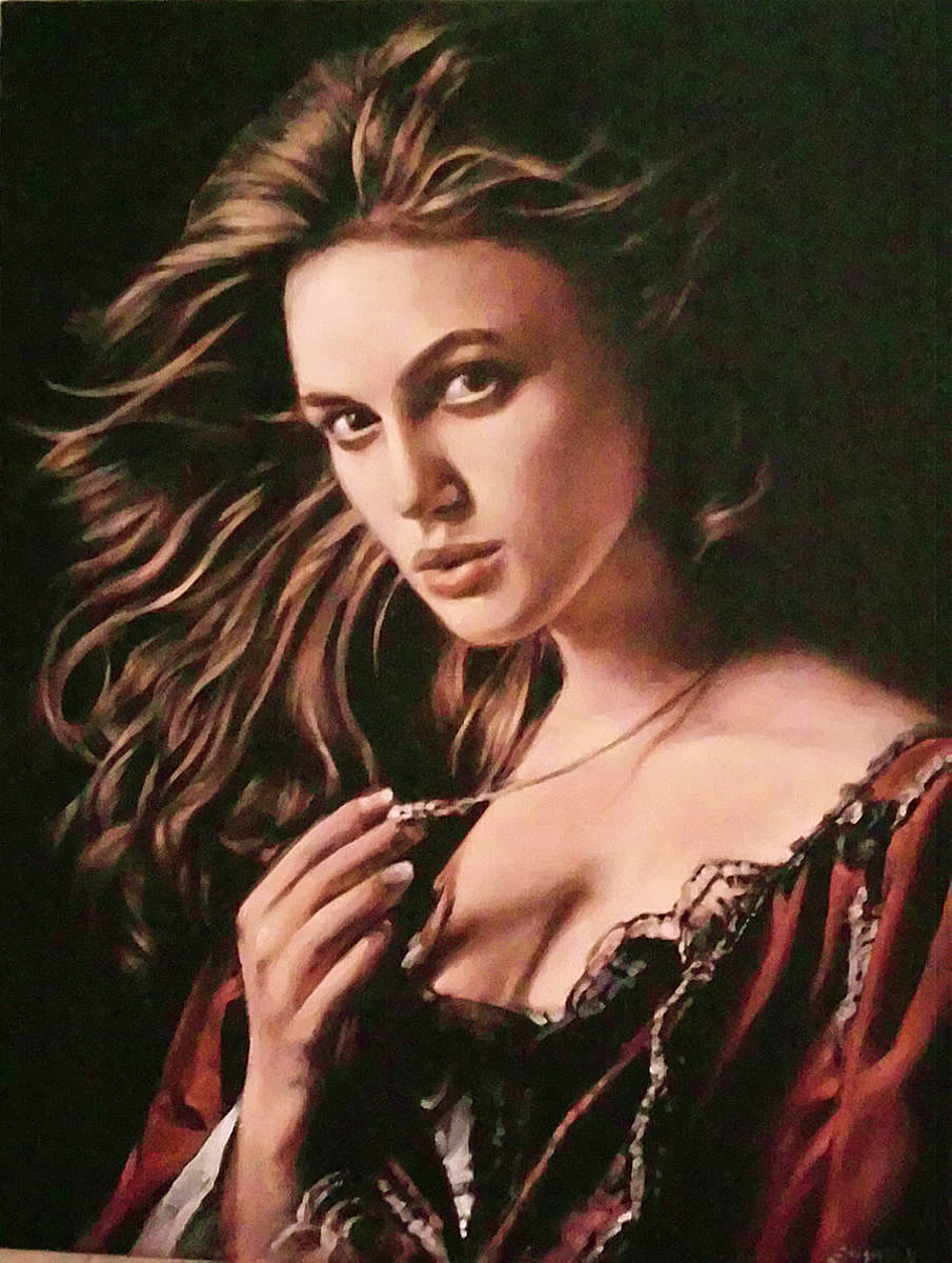 Keira 1 - Oil on canvas