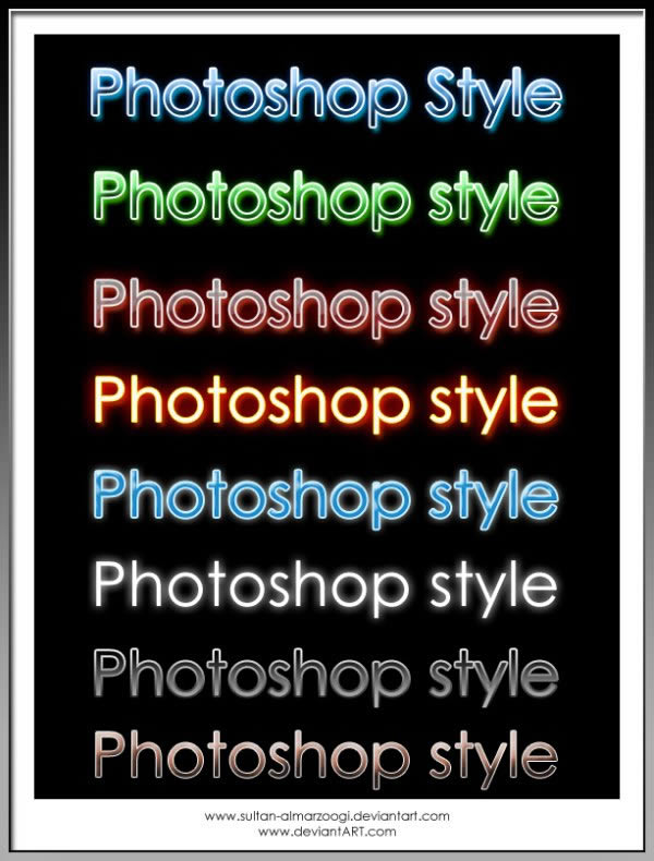 New photoshop styles