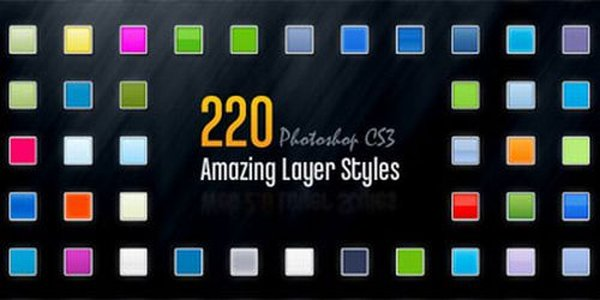 220 Amazing Free Photoshop Layer Styles