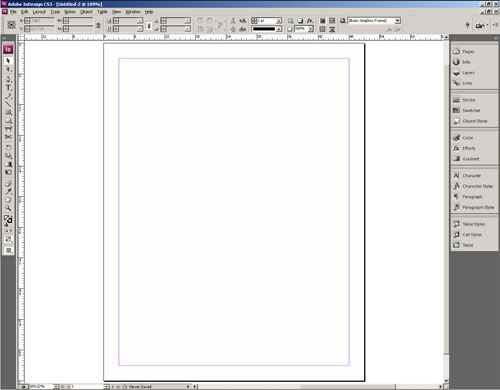 How the InDesign Interface works