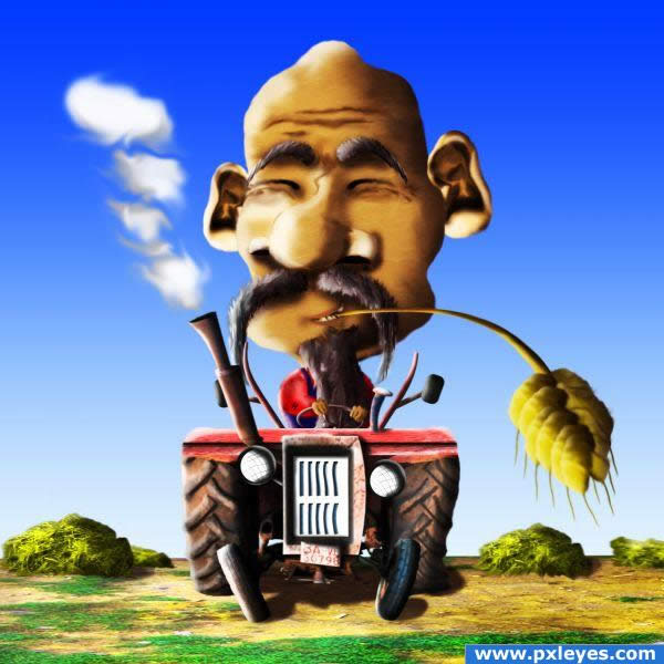 Funny Farmer Caricature