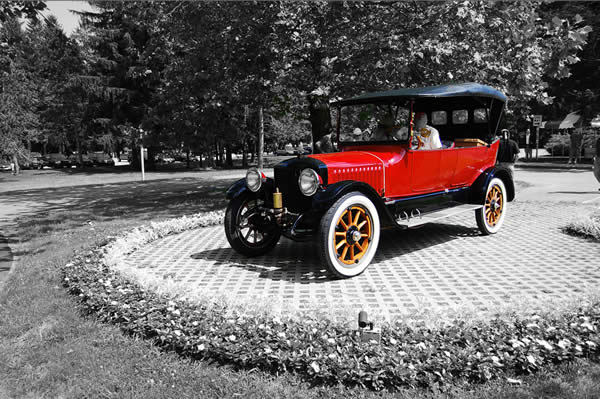 Selective Color Stanley Steamer