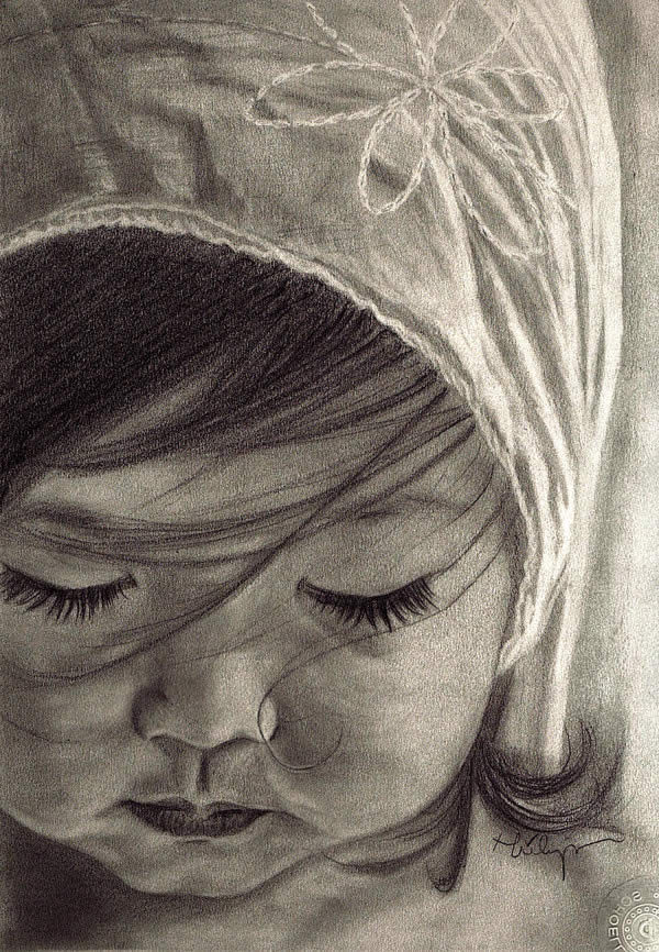 50 Ultra Realistic Children Portrait Drawings