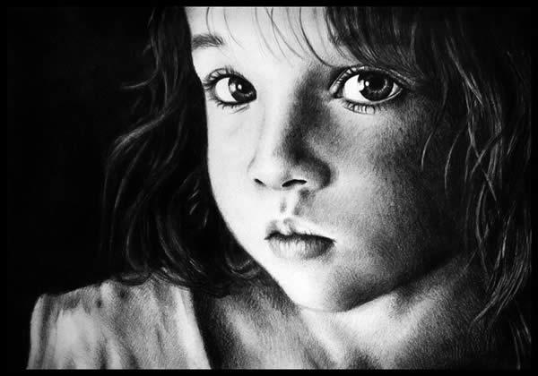 Realistic Child Drawing Portrait