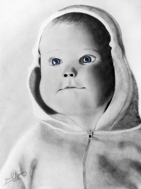 child pencil drawing - Sketches Of Kids