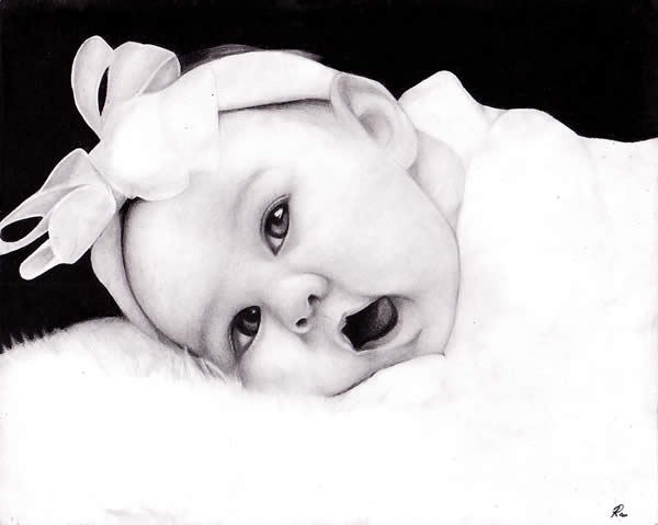 50 ultra realistic children portrait drawings 8