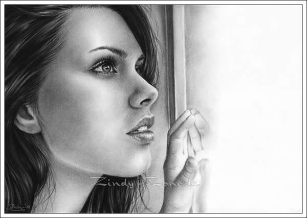 50 Ultra Realistic Female Portrait Drawings