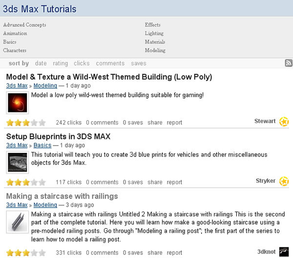 Good Tutorials 3DS Max Section