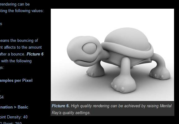 Clay Render with Mental Ray Final Gather