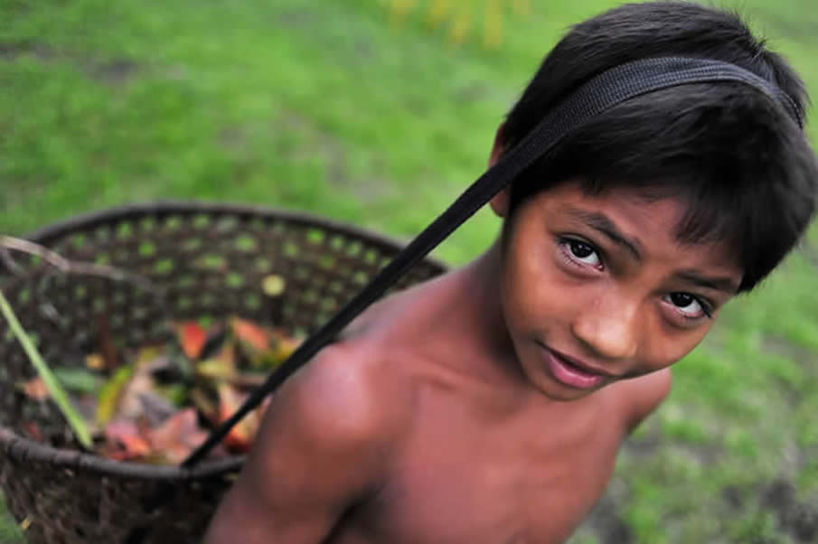 A child from the Sao Felix
