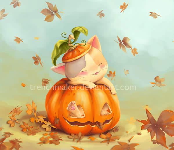 Kitteh Pumpkin