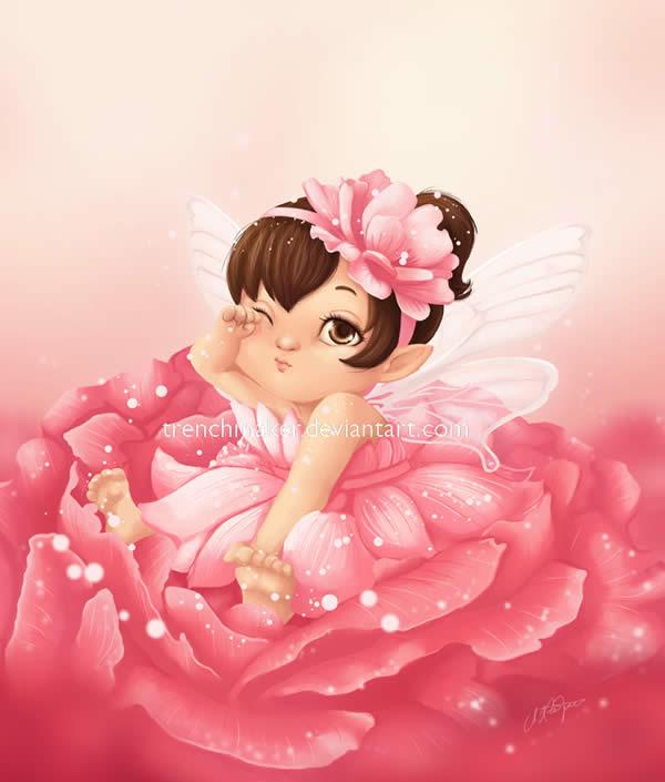 Chubby Baby Rose Fairy