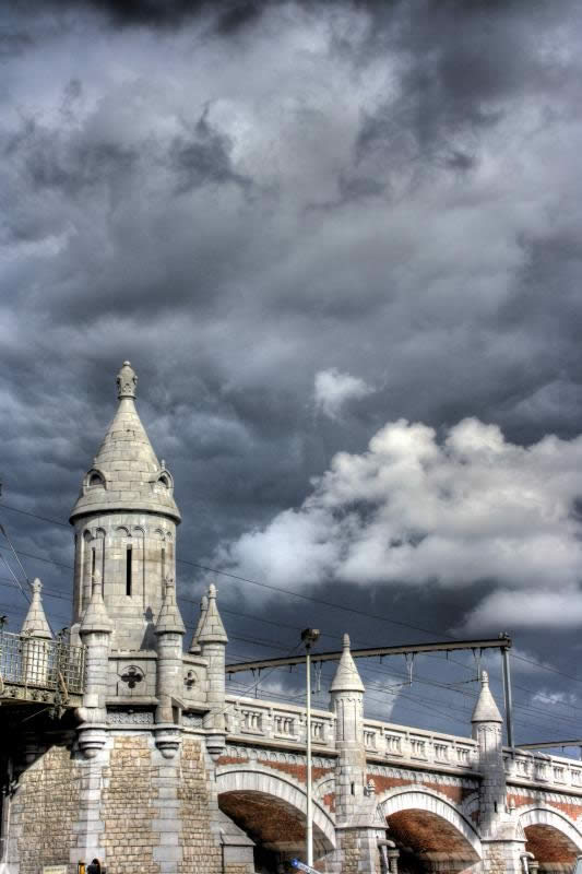 A cloudy day in Antwerp