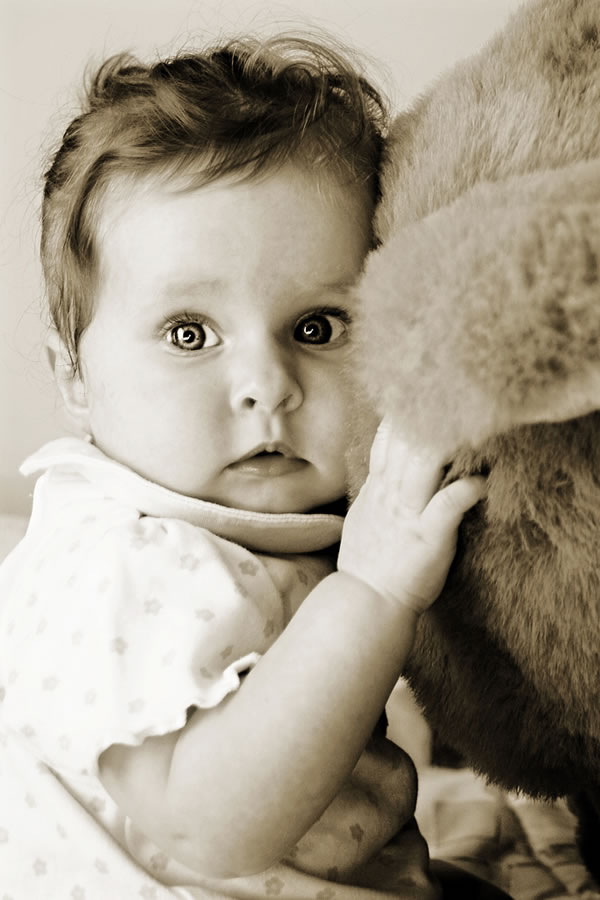 Baby Girl & Teddy Bear no.1