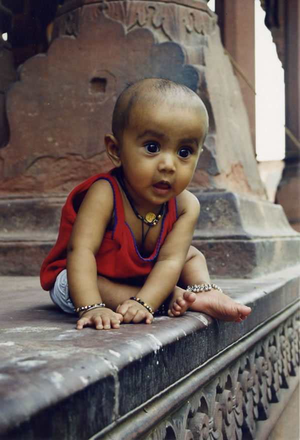Baby at Red Fort
