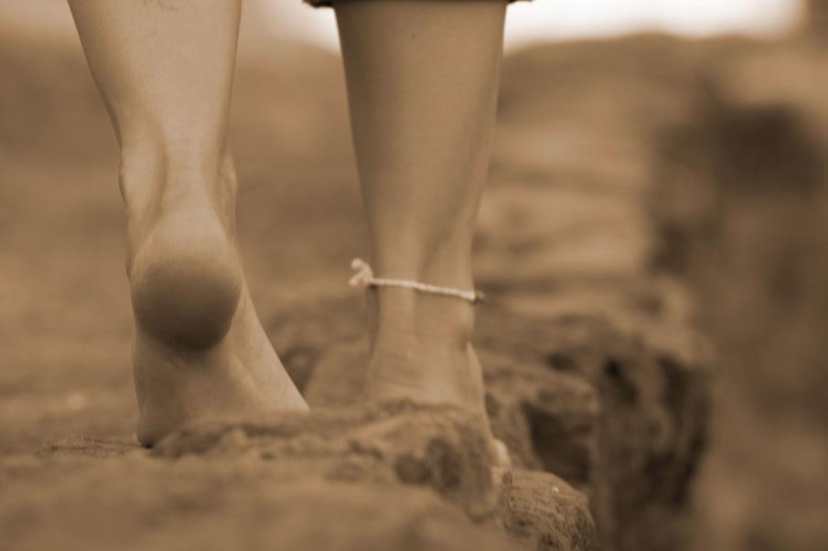 Sepia Feet