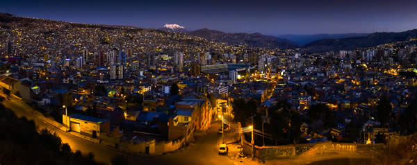 La Paz, Bolivia, Nightime