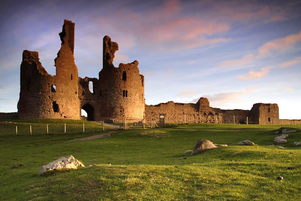 Dunstanburgh Castle - just after sunrise