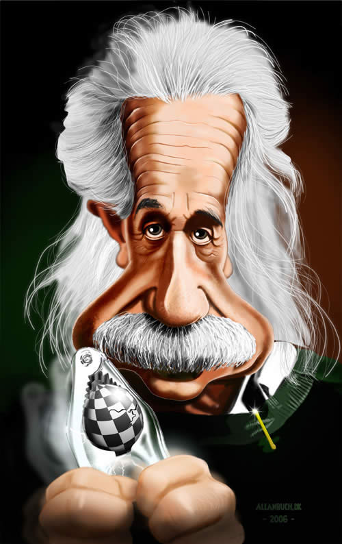 Caricature Albert Einstein