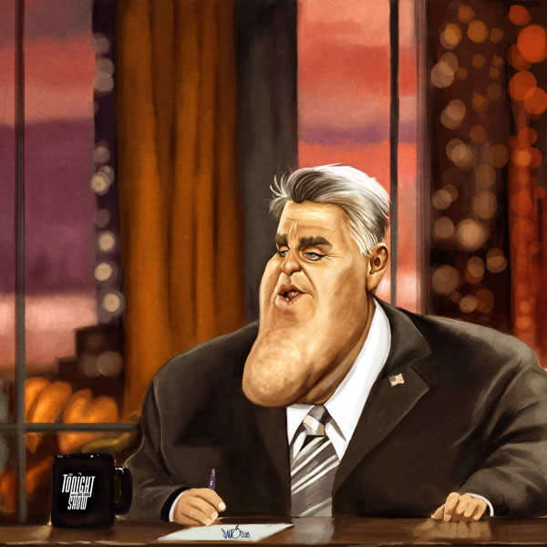 Jay Leno Tonight Show Caricature