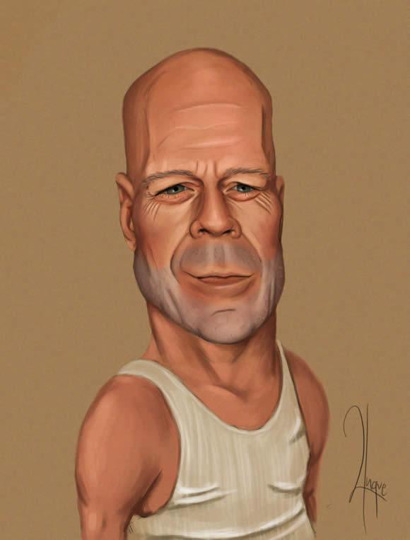 Bruce Willis Caricature