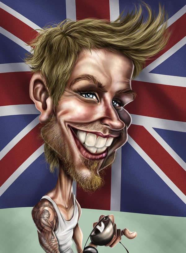 Beckham Caricature