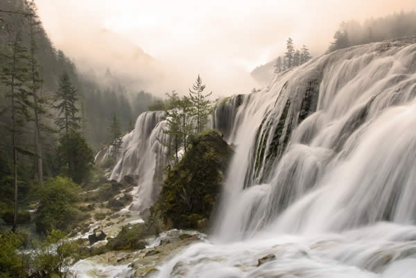 Waterfalls in Jiuzhaigou Nature Reserve