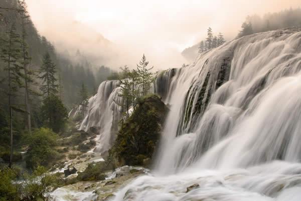 Waterfalls in Jiuzhaigou Nature Reserve