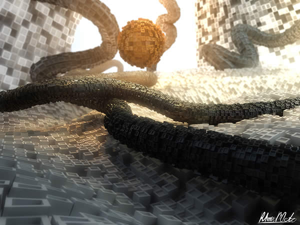 Create a Gorgeous Abstract Greeble Scene in Cinema 4D