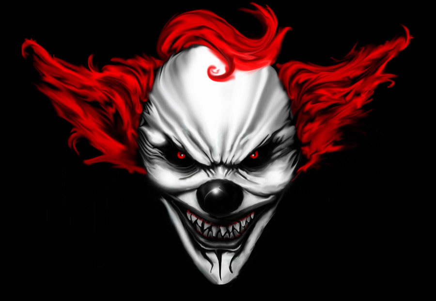 Digital Drawing: 50 Scary Clowns that Will Haunt in Your Dreams