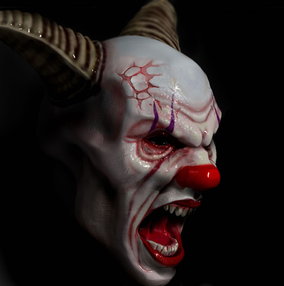 Digital Drawing: 50 Scary Clowns that Will Haunt in Your