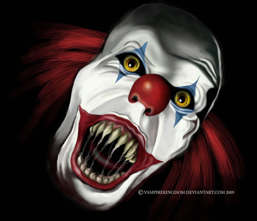 Digital Drawing 50 Scary Clowns That Will Haunt In Your