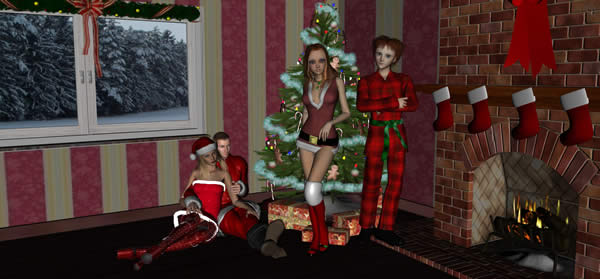 Daz People Christmas Sceen