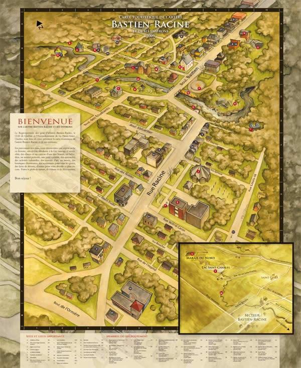 Bastien-Racine Map 2009