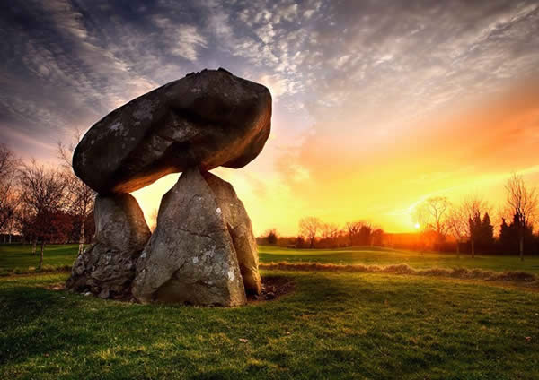 Proleek Dolmen at Sunset