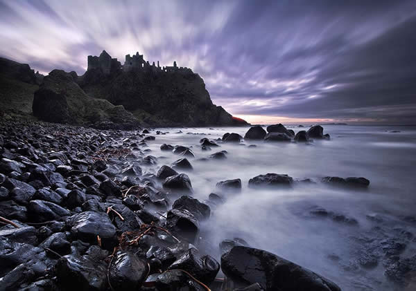Dunluce Castle at Twilight