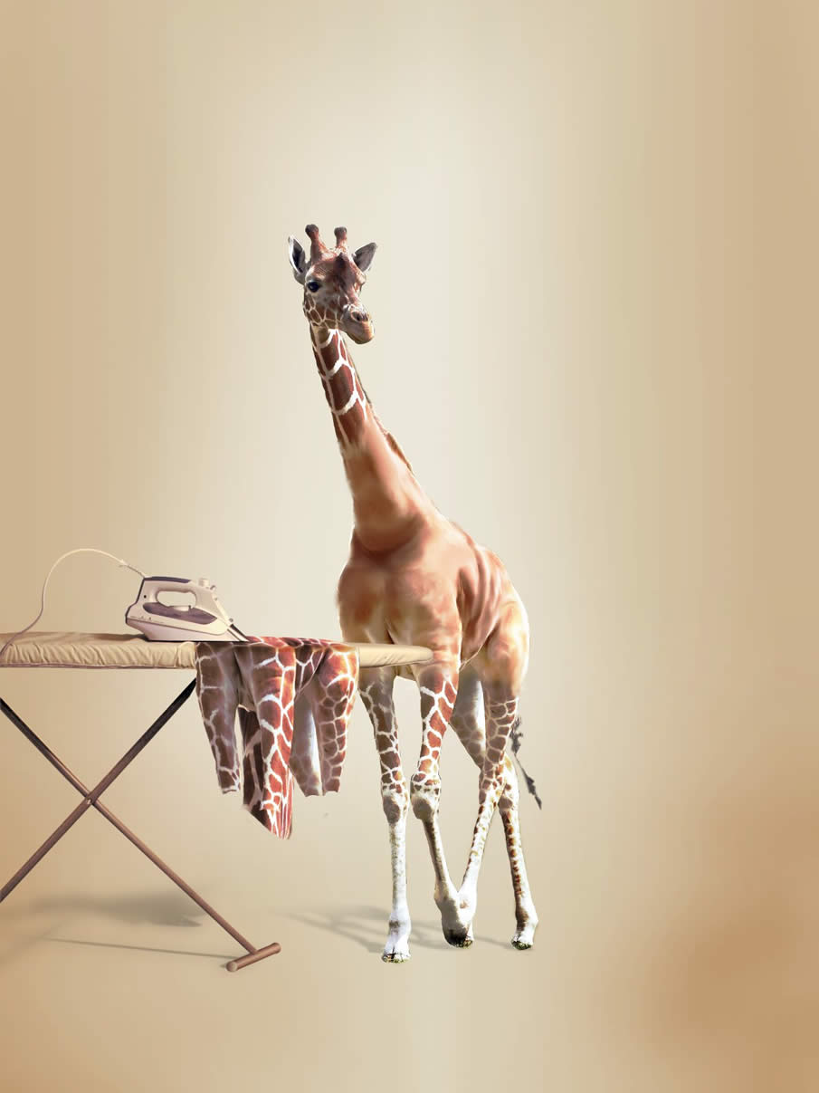 Undress a Giraffe in GIMP