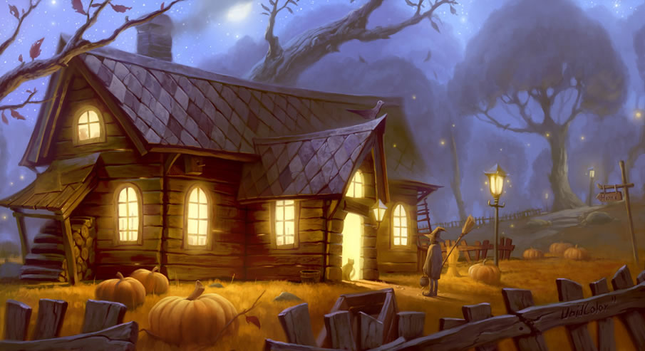 Halloween Cabin