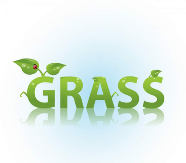 Grass Text Effect in Illustrator