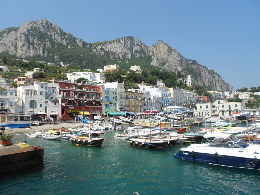 The Main Harbor in Capri
